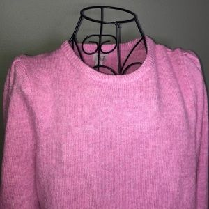 A NEW DAY Pink Bishop Sleeve Sweater